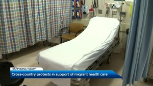 Protests against Canada's healthcare for uninsured migrants